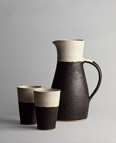 Jug and two beakers | Rie, Lucie | V Search the Collections