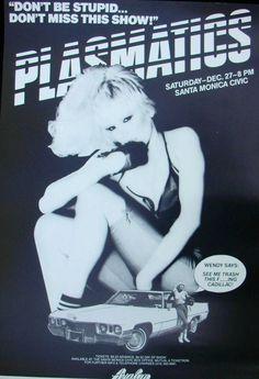 Promo Poster CA #plasmatics