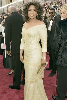 Oprah Winfrey in Vera Wang gown at the Kodak Theatre in Hollywood, California.Oscar 2005.
