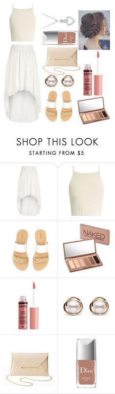 """""""Summer Formal Wear"""" by thegirlwithglasses1354 ❤ liked on Polyvore featuring River Island, SHE MADE ME, Soludos, Urban Decay, Charlotte Russe, Trilogy and Christian Dior"""
