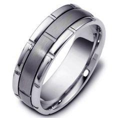 Titanium-Gold, Comfort Fit, Wedding Band   www.WeddingBands.com   @Wedding Bands