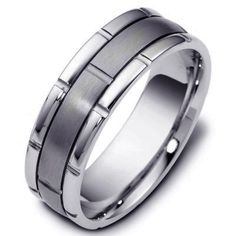 Titanium-Gold, Comfort Fit, Wedding Band | www.WeddingBands.com | @Wedding Bands