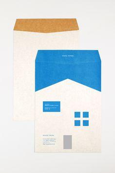 AH_ENVELOPE[K2]+ Stationary Branding, Stationary Design, Logo Branding, Logos, Japan Branding, Graphic Design Pattern, Print Design, Paper Design, Book Design