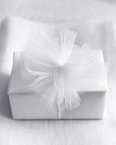 Tulle-wrapped gift