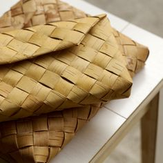 Clutch made traditionally of soft birch bark. Handwoven in Finland. May slightly vary in colour and pattern due to the natural material.