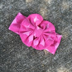 A personal favorite from my Etsy shop https://www.etsy.com/listing/236784835/pink-big-polka-dot-messy-bow-headwrap