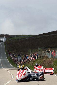 Motorcycle sidecar, Creg ny Baa Isle of Man TT -photo by Richard Mushet 2013