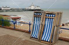 seaside deckchairs