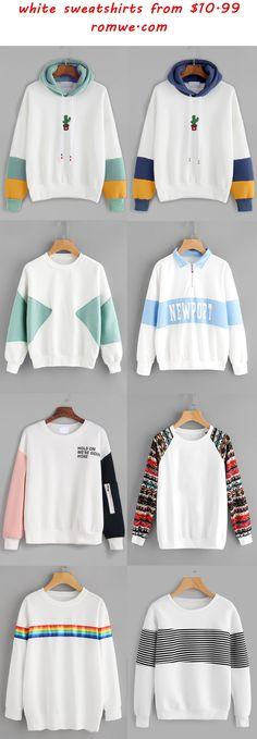 white sweatshirts - romwe.com
