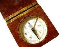 """"""" Der Kompass (von italienisch com-passo = das Um-Schreiten, der Zirkelweg[1]) ist ein Instrument zur Bestimmung einer fest vorgegebenen Richtung, z. B. Himmelsrichtung, Navigations-Kurs, Peilrichtung. Ursprünglich ergänzte der Kompass in der Schifffahrt andere Methoden der Navigation, zum Beispiel anhand von Sonne, Sternen und Landmarken, Strömungen, Wellengang und Wassertiefe. Die älteste Ausführung des Kompasses ist die Kimme, die das Anpeilen des Polarsterns ..."""" Kompass – Wikipedia  la…"""