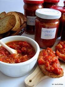 lutenica, przetwory, sosy zimne, domowa spiżarnia, sos z pomidorów i papryki, smaczna pyza, blog kulinarny