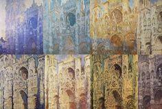 Monet | Las catedrales | Monet al llegar a Rouen vuelve a desafiarse a si mismo, escogiendo como motivo la catedral gótica, de igual forma que ya lo había hecho con las ruedas de molinos ,los chopos y como hará más tarde por 1889 con el Parlamento inglés y el Támesis de los que pinta 37 cuadros inspirados en Turner aunque su solución sea totalmente propia.. Entre 1892 y 1894 Monet pinta 31catedrales percibiéndolas por las variaciones de luz en función del clima, de la hora del día y de la…