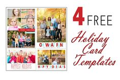 Free Photoshop Templates for Holiday Cards Christmas Cards