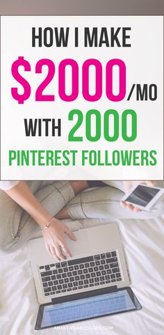 How I made over $2000 with 2000 Pinterest followers