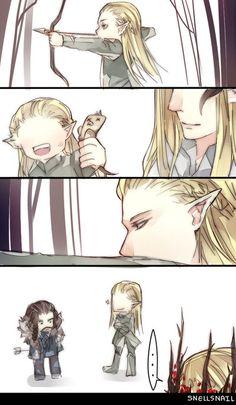 Looks like Legolas caught a dwarf! ;-D