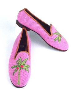 Preppy Palm Needlepoint Loafer   Women's by By Paige from By Paige Shoes
