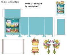 Dollhouse Kitchen | Dollhouse/miniatures printables | Pinterest