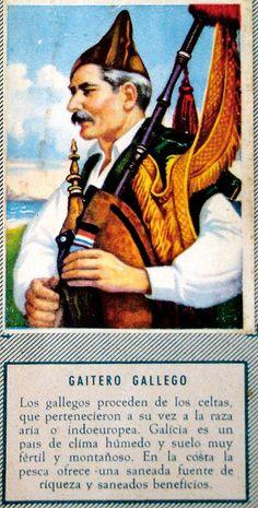 Fundou o primeiro coro galego, Aires d'a terra co que gravou en 1904 o primeiro disco en galego. Asturian, Book Illustration, Folklore, Pipes, Celtic, Roots, Random, World, Old Pictures