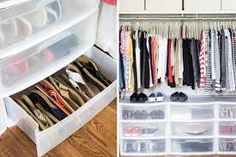 How to Organize your shoes // sandal organizing // cheap closet drawers // shoe . - How to Organize your shoes // sandal organizing // cheap closet drawers // shoe organizing // under - Shoe Organizer Under Bed, Under Bed Shoe Storage, Shoe Storage Ottoman, Under Bed Drawers, Diy Shoe Storage, Bedroom Storage, Smart Storage, Underbed Storage Ideas, Storage Baskets