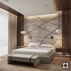 Modern Style Bedroom Design Ideas and Pictures. Shares tips to help you create a modern bedroom style without turning it into a midcentury time capsule. Bedroom False Ceiling Design, Luxury Bedroom Design, Modern Master Bedroom, Bedroom Furniture Design, Master Bedroom Design, Minimalist Bedroom, Home Bedroom, Home Interior Design, Bedroom Ideas