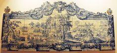 Painel de azulejos barroco português no Museu Nacional do Azulejo, Lisboa, Portugal
