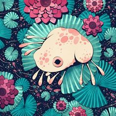 Frog, an art print by Cleonique Hilsaca Inspiration Art, Art Inspo, Pretty Art, Cute Art, Cute Drawings, Animal Drawings, Bel Art, Frog Illustration, Cute Animal Illustration