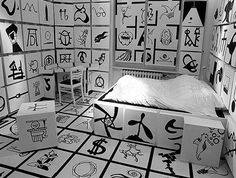 Hotel Room with Crazy Symbols, would you go crazy? Or would your creativity flourish?