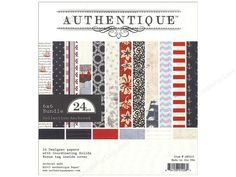 Authentique Anchored Collection Paper Bundle is a double-sided paper, 2 sheets each of 12 designs that include; text with ships, patterned stripes, rope rings, bandana floral, antique maps, stripes, scallop waves, stylized flowers, anchors, dots, stars, and solids. In Red, Light Blue, Navy, Ecru, and Cream. Great for vacation and beach theme projects. All designs have been reduced to fit this smaller size. Perfect for scrapbooking or card making. Archival Quality. 6 x 6 inch. 24 pc.