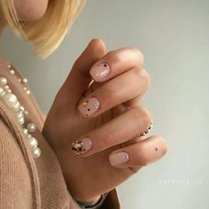 Short acrylic nails round 62 Most Popular Ideas Manicure Y Pedicure, Gel Nails, Acrylic Nails, Cute Nails, Pretty Nails, Garra, Nail Time, Healthy Nails, Cute Nail Designs