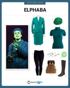 elphaba costume here little turtle neck is short
