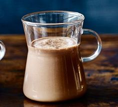 Salted caramel rum hot chocolate