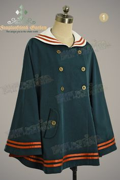 Military Lolita Sailor Collar Mandaren Color Cape*2colors Instant Shipping