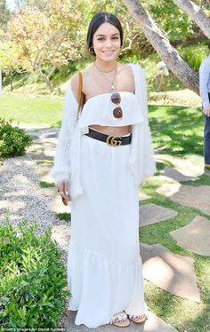 Wonder in white: Vanessa Hudgens looked absolutely gorgeous as she attended the Best Buddies Mother's Day Brunch in Malibu on Saturday