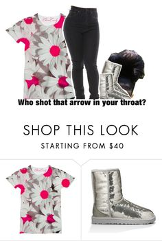 """Who shot that arrow in your throat?"" by princess-sinia ❤ liked on Polyvore featuring UGG Australia and Hush"