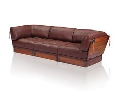 NEW: Here, COSMOPOLITAN MODULAR components make a 3-seater #sofa. Latex and duck feather seat, upholstered in premium 3mm #leather.