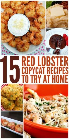 15 Red Lobster Copycat Recipes to Try at Home Ready to get your seafood fix? Before you head out to Red Lobster to spend a load of cash, try making your favorite recipes at home. From their famous Cheddar Bay Biscuits to their amazing Lobster Recipes, Fish Recipes, Seafood Recipes, New Recipes, Cooking Recipes, Favorite Recipes, Restaurant Copycat Recipes, Restaurant Food, Recipies
