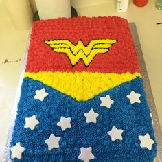 Wonder Woman Cake - a few collaborative ideas.  Did not take as long as I thought.