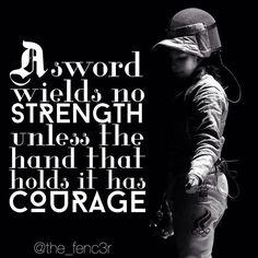 Fencing requires discipline, grace, intelligence, strength, endurance…