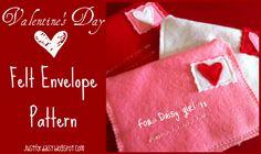 Just For Daisy :: Felt Envelope Pattern