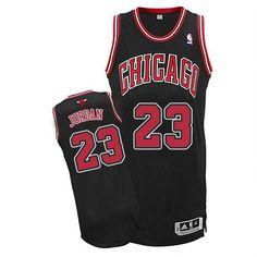 b386ba4cd64 Men's Michael Jordan Authentic Black Jersey: Adidas #23 NBA Chicago Bulls  Alternate