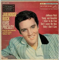 Elvis Presley 'Jailhouse Rock' Album Cover Framed Wall art East Urban Home Rock Roll, 50s Rock And Roll, Elvis Presley Records, Elvis Presley Albums, Rock Album Covers, Jailhouse Rock, Cd Album, Graceland, Extended Play