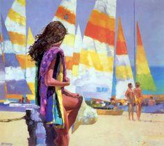 Obras maestras utilizando espátulas, del artista Howard Behrens.