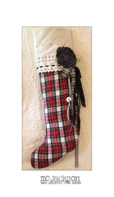 can one ever have enough tartan plaid? not if it is this cool tartan Christmas stocking! Celtic Christmas, Tartan Christmas, Christmas Sewing, Christmas Projects, Winter Christmas, Christmas Holidays, Christmas Decorations, Tartan Plaid, Diy Plaid