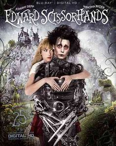 Edward Scissorhands - Johnny Depp & Winona Ryder - The Anniversary version is sold out, but the film is available on DVD and Blu-ray Anthony Michael Hall, Michael Jackson, Johnny Depp, Beau Film, Vincent Price, Winona Ryder, Scary Movies, Great Movies, Halloween Movies