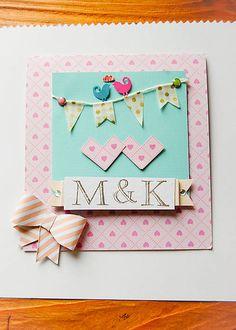MonRoy / Svadobný pozdrav s maxi obálkou na peňažný dar Scrapbooks, Wedding, Valentines Day Weddings, Scrapbooking, Weddings, Scrapbook, Marriage, Chartreuse Wedding, Guest Books