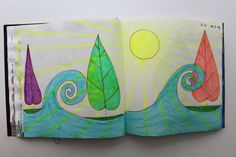 LAURA GUILLÉN 19-7-15 diario arte artista naturaleza mar sketchbook art artist nature sea
