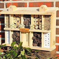 Luxus Insektenhotel-Vogelhaus, Vogelvilla, Futterhaus, Vogelfutter, Insektenhotel, Nistkasten