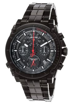 Image for Men's Precisionist Chrono Black IP SS Carbon Fiber Dial Black IP SS from World of Watches Bulova, Breitling, Sporty Watch, Man Images, Carbon Fiber, Watches, Accessories, Black, Black People