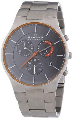 Skagen Herren-Armbanduhr XL Chronograph Quarz Titan SKW6076: Amazon.de: Uhren