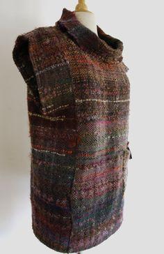 SAORI hand woven turtleneck vest. $200.00, via Etsy.